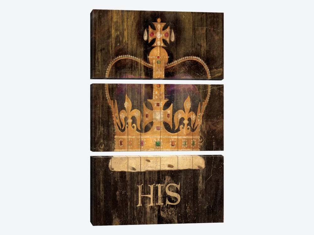 His Majesty's Crown with word by Avery Tillmon 3-piece Canvas Art Print