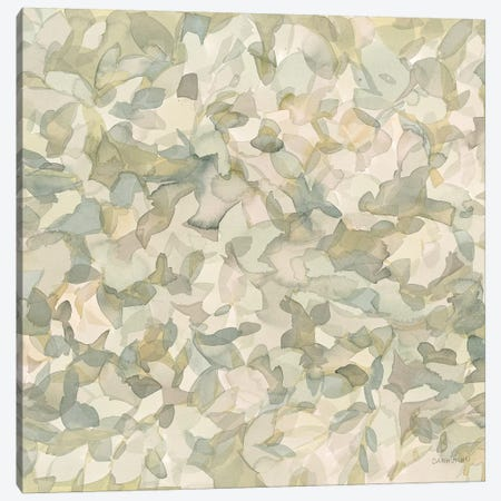 Leafy Abstract Circle II Blush Gray Canvas Print #WAC9305} by Danhui Nai Canvas Wall Art