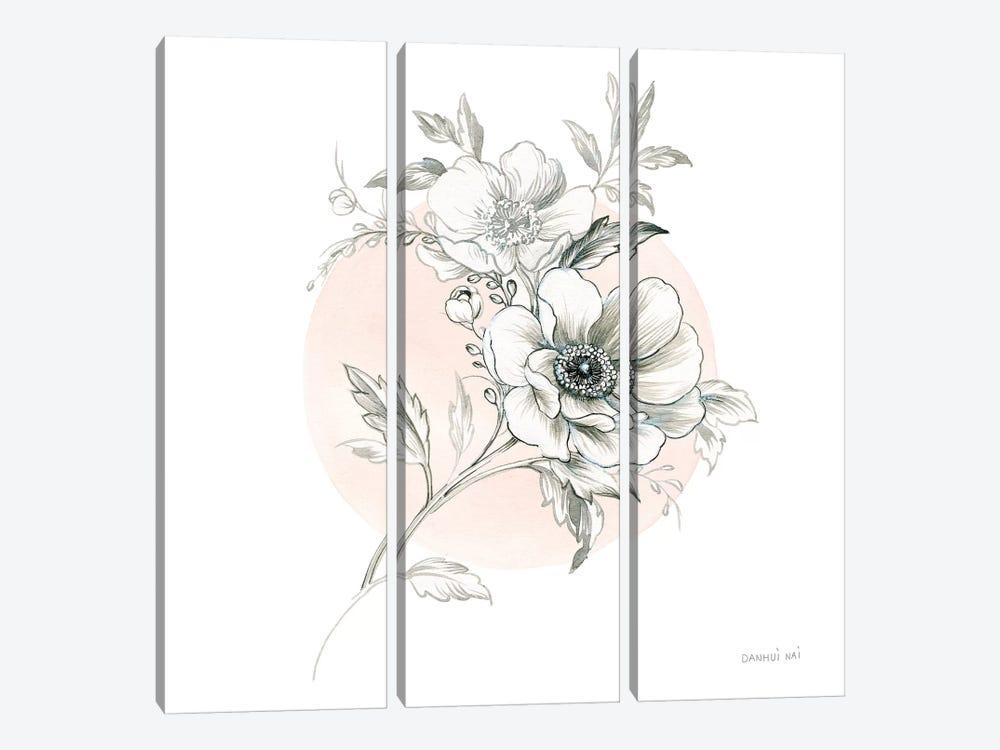 Sketchbook Garden I by Danhui Nai 3-piece Canvas Art Print