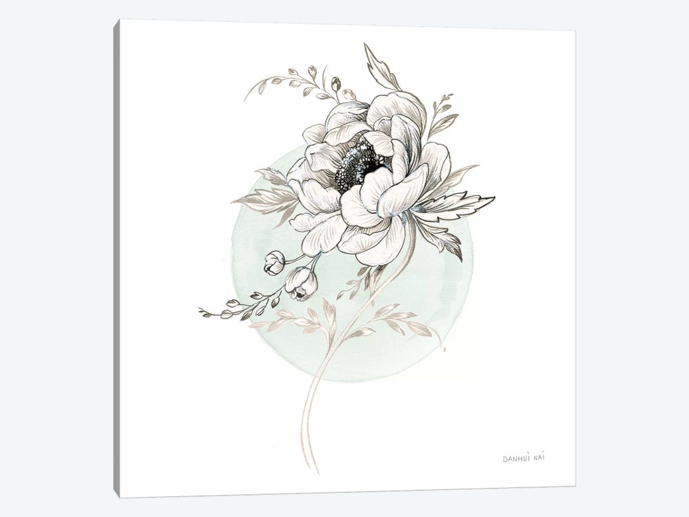 Sketchbook Garden II by Danhui Nai 1-piece Canvas Art