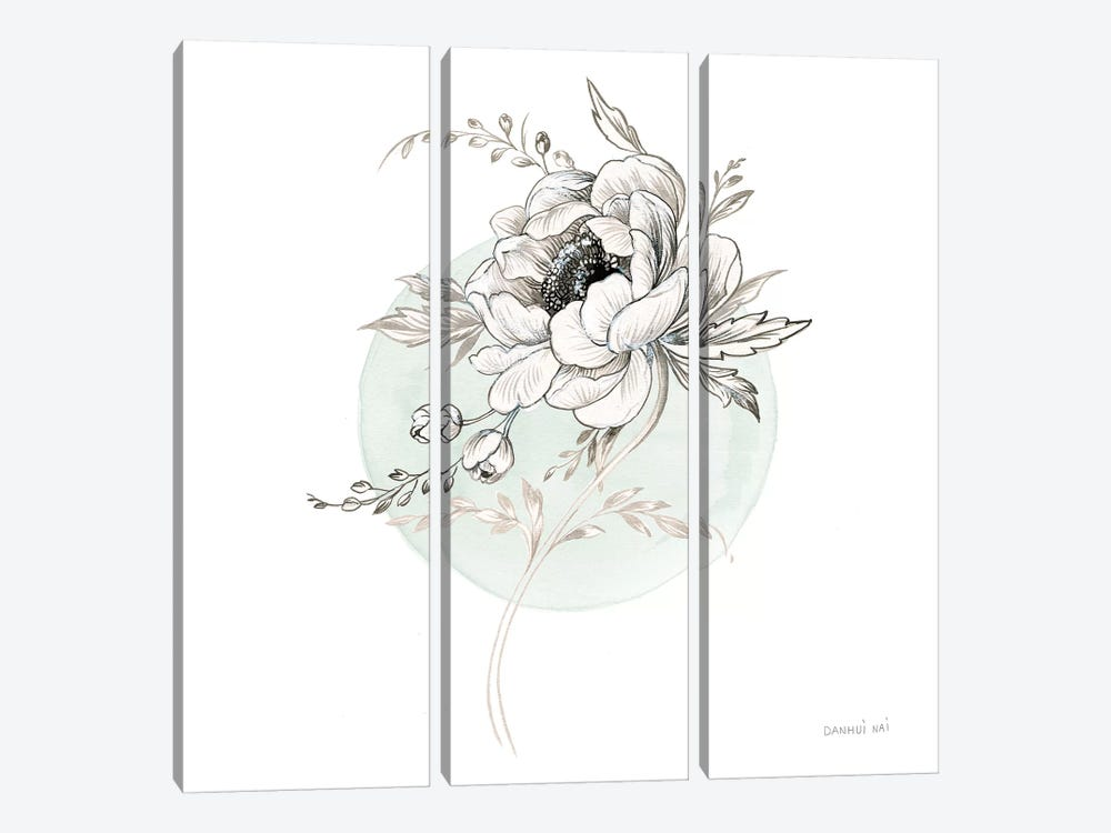 Sketchbook Garden II by Danhui Nai 3-piece Canvas Wall Art