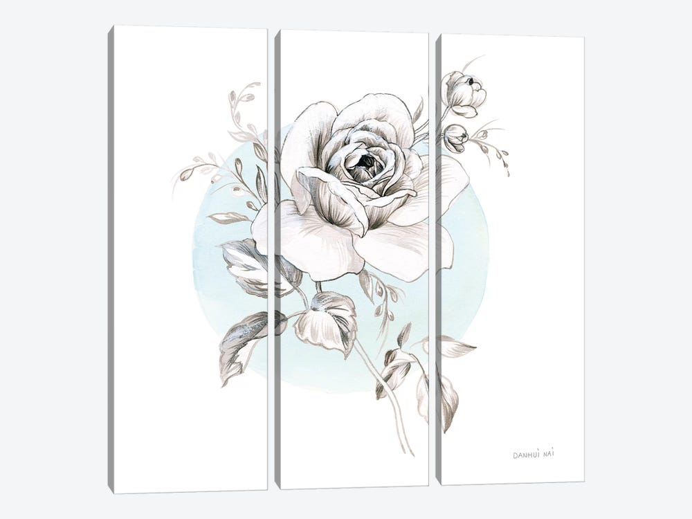 Sketchbook Garden III 3-piece Canvas Art Print