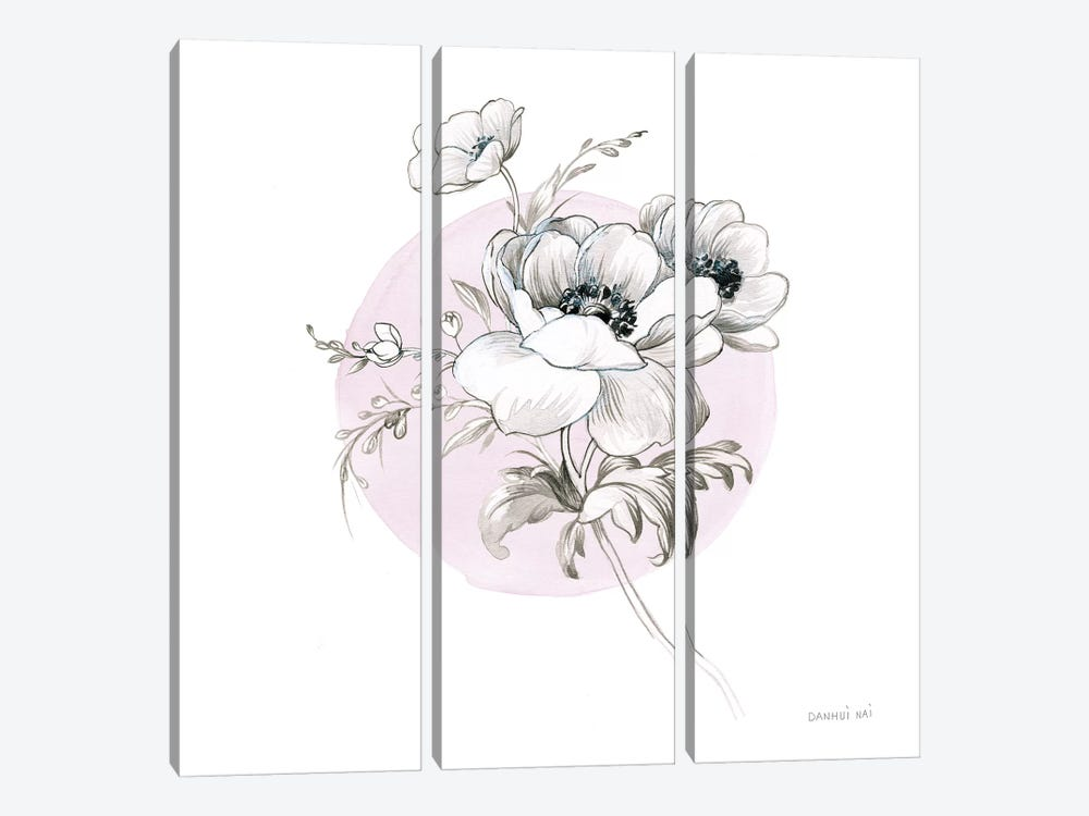 Sketchbook Garden IV by Danhui Nai 3-piece Canvas Wall Art