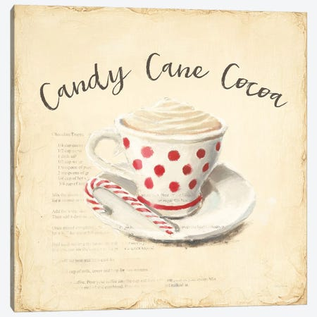 Creme de Noel Candy Cane Canvas Print #WAC9314} by Emily Adams Canvas Print