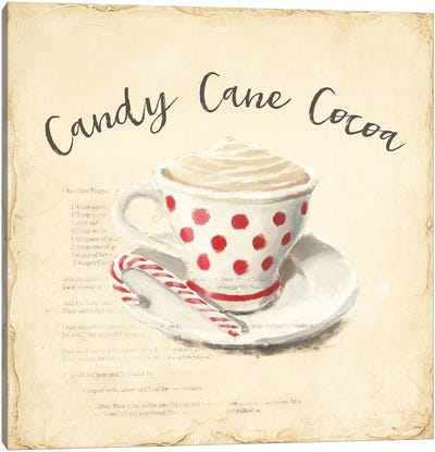 Creme de Noel Candy Cane Canvas Art Print