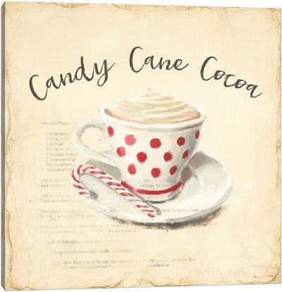 Creme de Noel Candy Cane Canvas Art Print