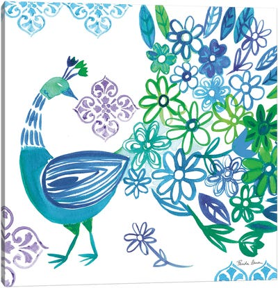 Jewel Peacocks I Canvas Art Print