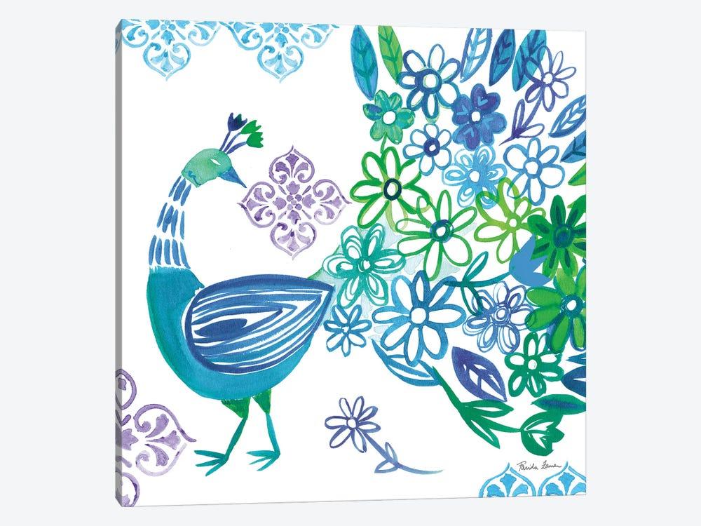 Jewel Peacocks I by Farida Zaman 1-piece Art Print