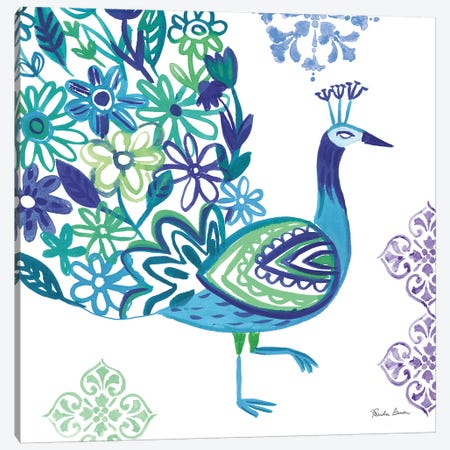 Jewel Peacocks III Canvas Print #WAC9316} by Farida Zaman Canvas Print