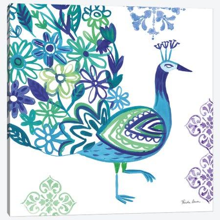 Jewel Peacocks III 3-Piece Canvas #WAC9316} by Farida Zaman Canvas Print
