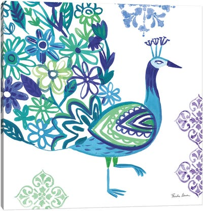 Jewel Peacocks III Canvas Art Print