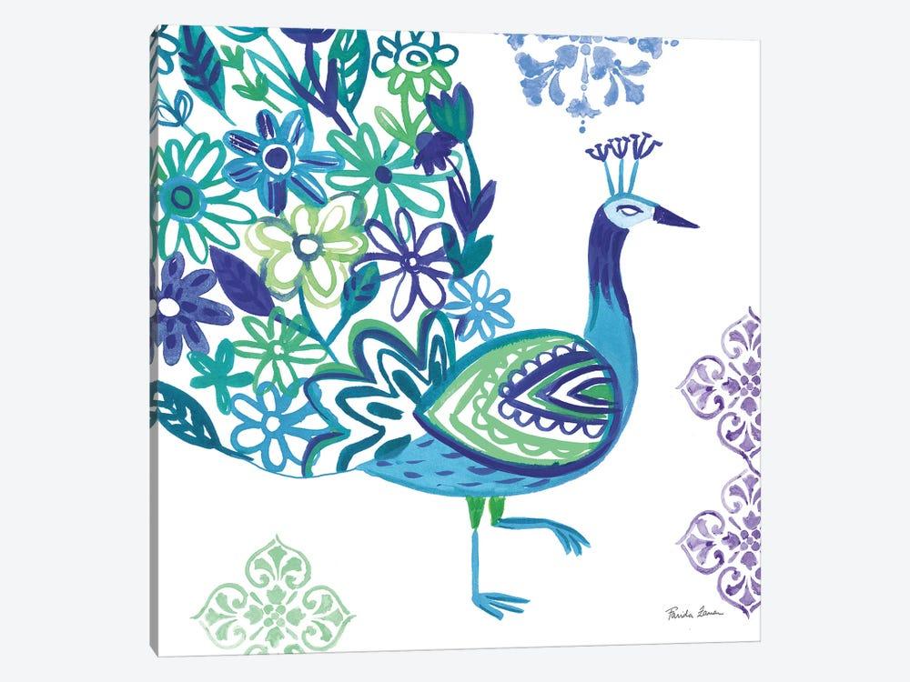Jewel Peacocks III by Farida Zaman 1-piece Canvas Wall Art