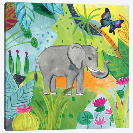 The Big Jungle I Canvas Print #WAC9317} by Farida Zaman Canvas Art Print