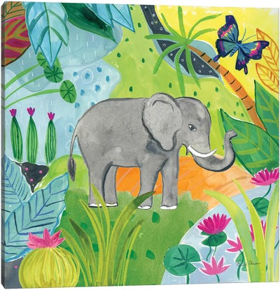 The Big Jungle I Canvas Art Print