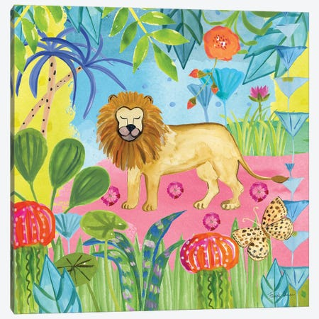 The Big Jungle II Canvas Print #WAC9318} by Farida Zaman Canvas Wall Art
