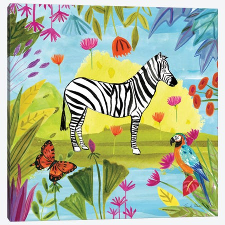 The Big Jungle III Canvas Print #WAC9319} by Farida Zaman Canvas Artwork