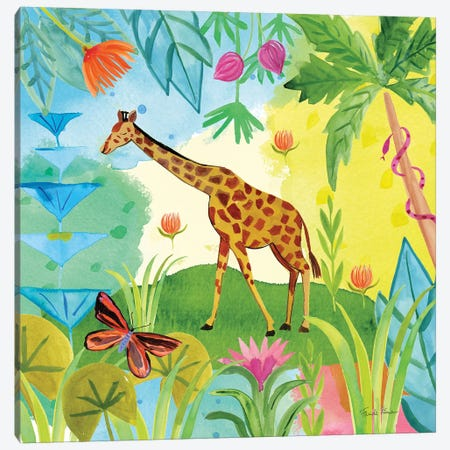 The Big Jungle IV Canvas Print #WAC9320} by Farida Zaman Canvas Art Print