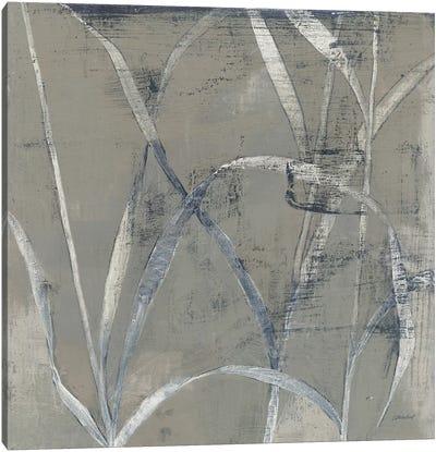 In The Garden II Gray Canvas Art Print