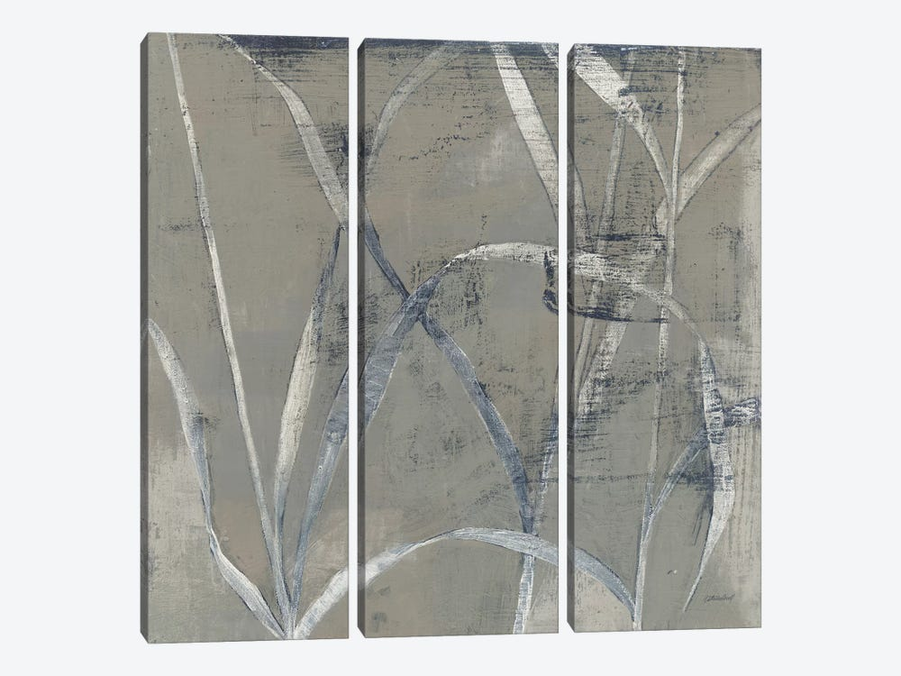In The Garden II Gray by Kathrine Lovell 3-piece Canvas Art