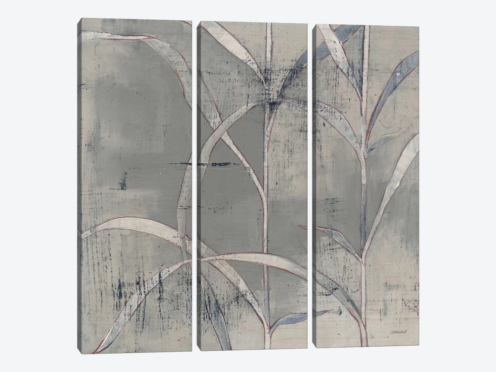 In The Garden III Gray by Kathrine Lovell 3-piece Canvas Art Print