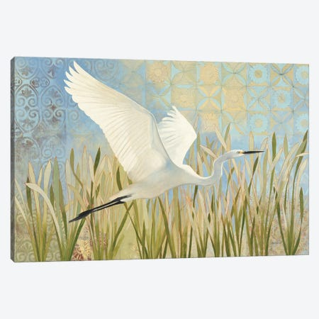 Snowy Egret In Flight Canvas Print #WAC9335} by Kathrine Lovell Art Print