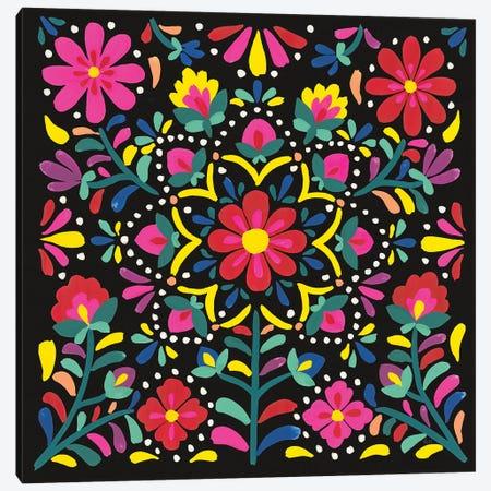Floral Fiesta II Canvas Print #WAC9337} by Laura Marshall Canvas Art Print