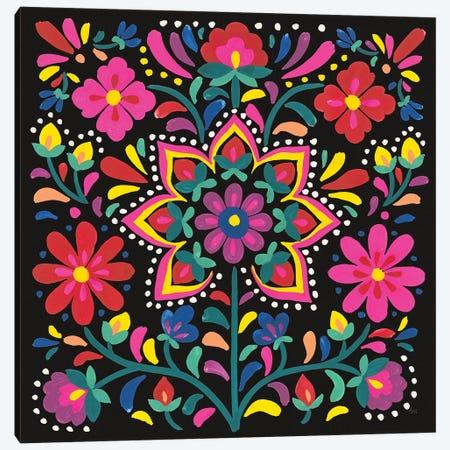 Floral Fiesta III Canvas Print #WAC9338} by Laura Marshall Canvas Wall Art