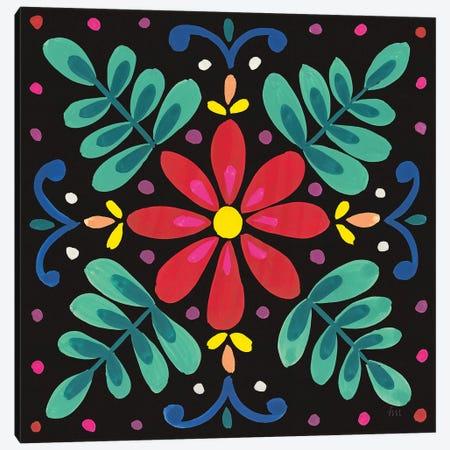 Floral Fiesta Tile VI Canvas Print #WAC9340} by Laura Marshall Art Print