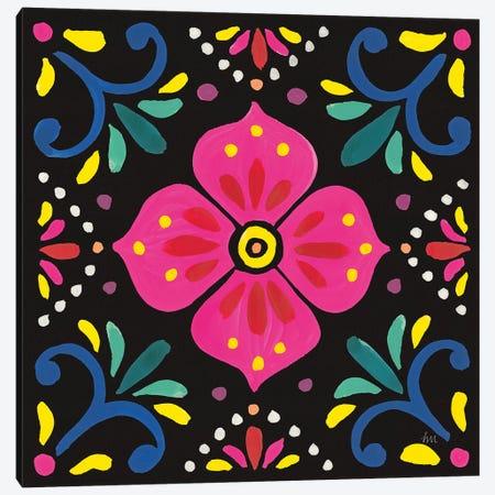 Floral Fiesta Tile IX Canvas Print #WAC9343} by Laura Marshall Canvas Art Print