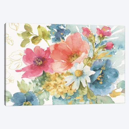 My Garden Bouquet I Canvas Print #WAC9356} by Lisa Audit Canvas Art Print