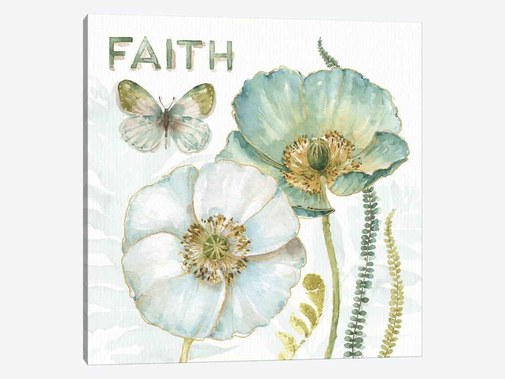 My Greenhouse Flowers Faith by Lisa Audit 1-piece Canvas Print