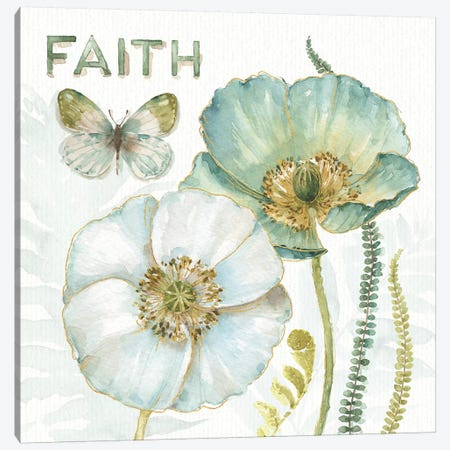 My Greenhouse Flowers Faith Canvas Print #WAC9357} by Lisa Audit Canvas Art Print