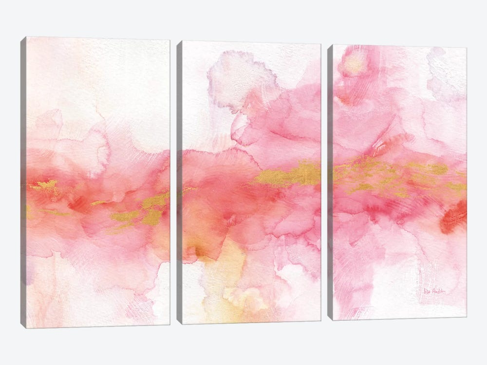 Rainbow Seeds Abstract Gold by Lisa Audit 3-piece Canvas Print