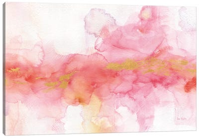 Rainbow Seeds Abstract Gold Canvas Art Print