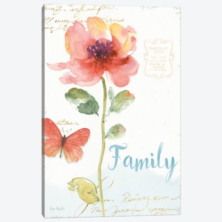 Rainbow Seeds Floral IX Family Canvas Print #WAC9367} by Lisa Audit Canvas Wall Art