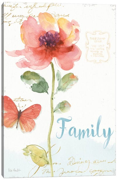 Rainbow Seeds Floral IX Family Canvas Art Print