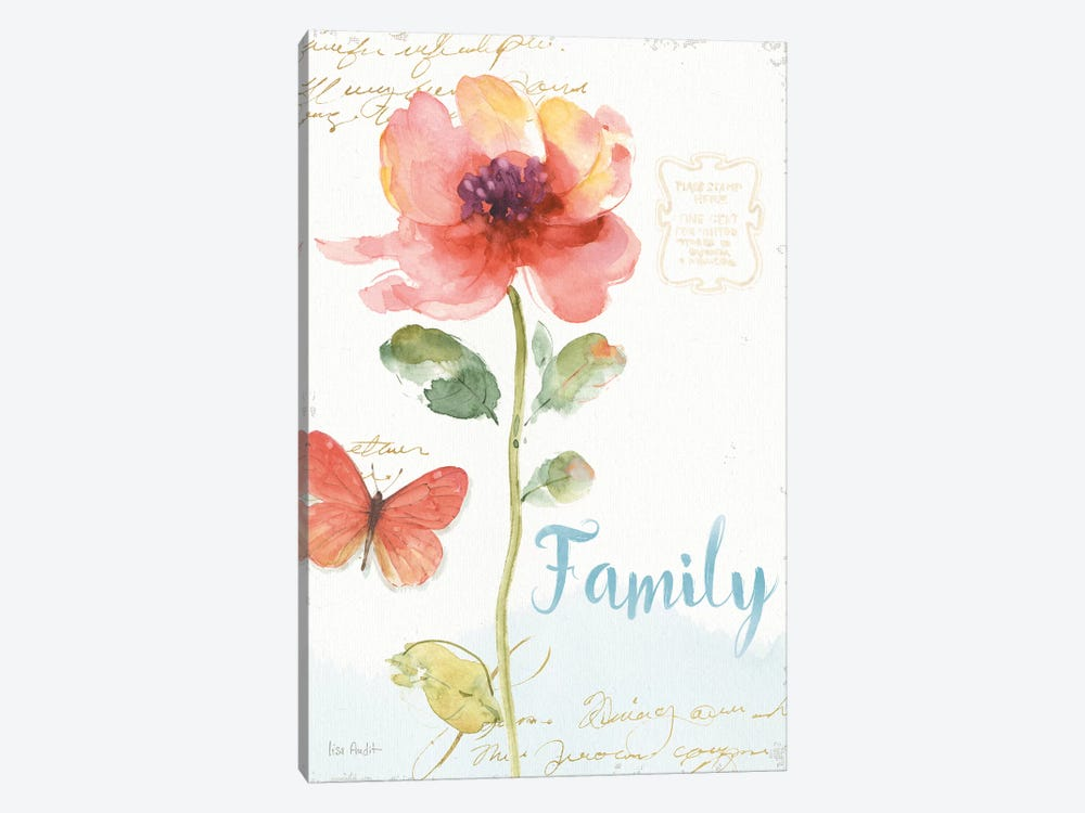 Rainbow Seeds Floral IX Family by Lisa Audit 1-piece Canvas Wall Art