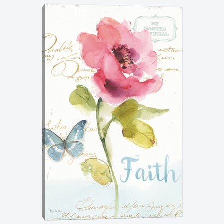 Rainbow Seeds Floral VI Faith Canvas Print #WAC9368} by Lisa Audit Art Print