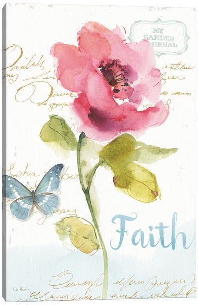 Rainbow Seeds Floral VI Faith Canvas Art Print