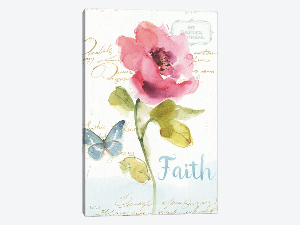 Rainbow Seeds Floral VI Faith by Lisa Audit 1-piece Art Print