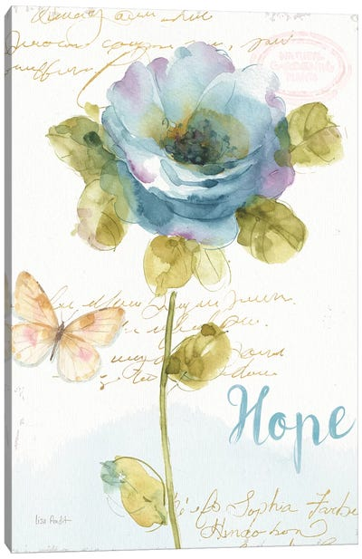 Rainbow Seeds Floral VII Hope Canvas Art Print