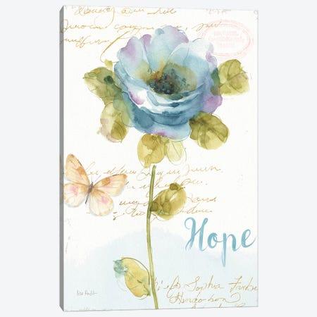 Rainbow Seeds Floral VII Hope Canvas Print #WAC9369} by Lisa Audit Art Print