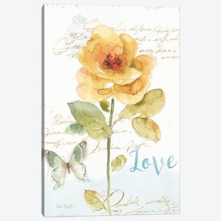 Rainbow Seeds Floral VIII Love Canvas Print #WAC9370} by Lisa Audit Canvas Wall Art