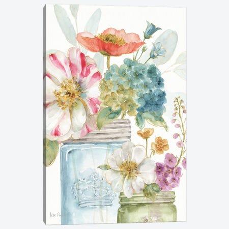 Rainbow Seeds Flowers IX Canvas Print #WAC9371} by Lisa Audit Canvas Artwork