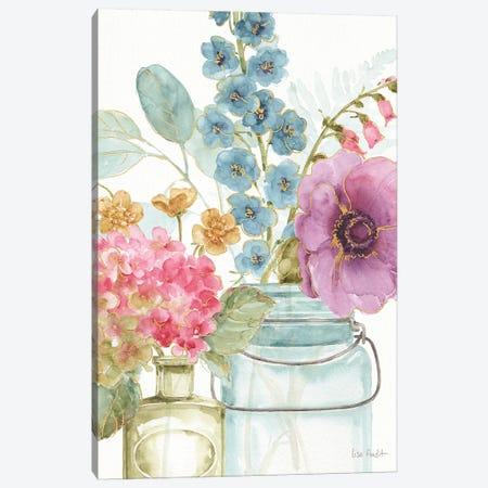 Rainbow Seeds Flowers VIII Canvas Print #WAC9372} by Lisa Audit Canvas Wall Art