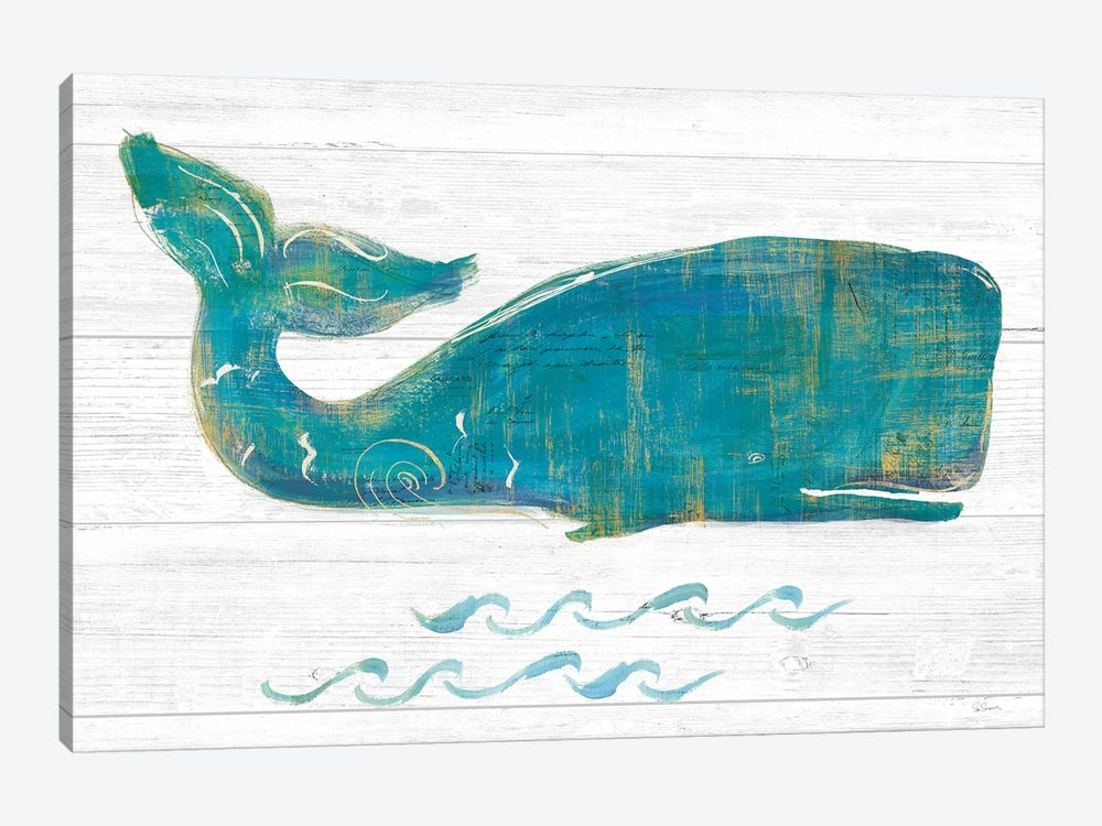On The Waves I Light Plank by Sue Schlabach 1-piece Canvas Art Print