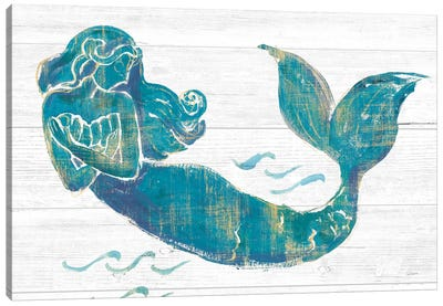 On The Waves II Light Plank Canvas Art Print
