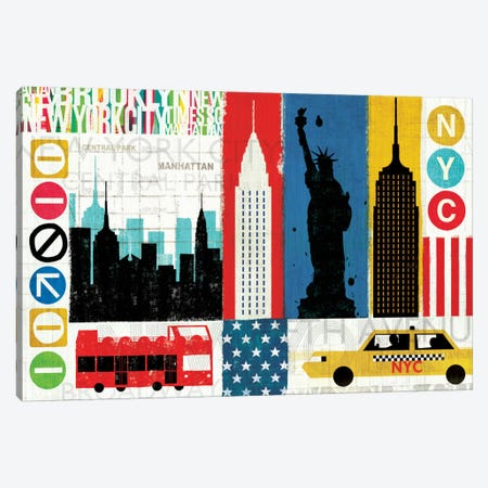 New York City Experience Canvas Print #WAC939} by Michael Mullan Canvas Wall Art