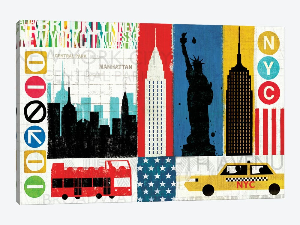 New York City Experience by Michael Mullan 1-piece Canvas Artwork