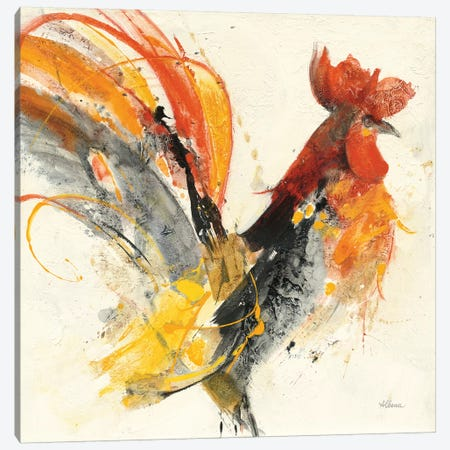 Festive Rooster I Canvas Print #WAC9435} by Albena Hristova Canvas Art